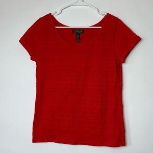 Lauren Ralph Lauren Red Shortsleeved Top Size L